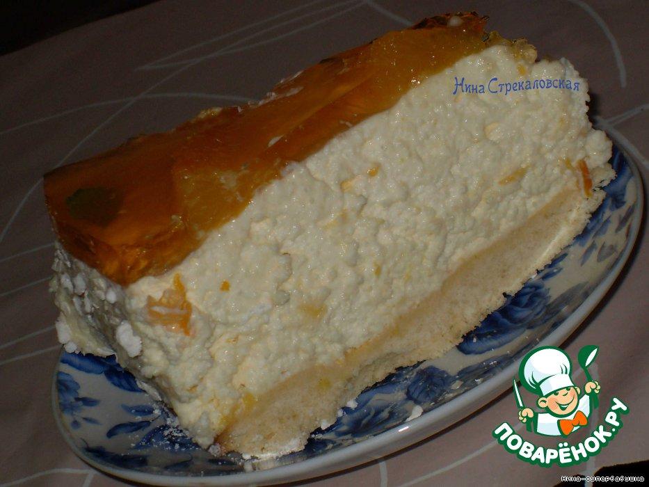Торт из творога без масла