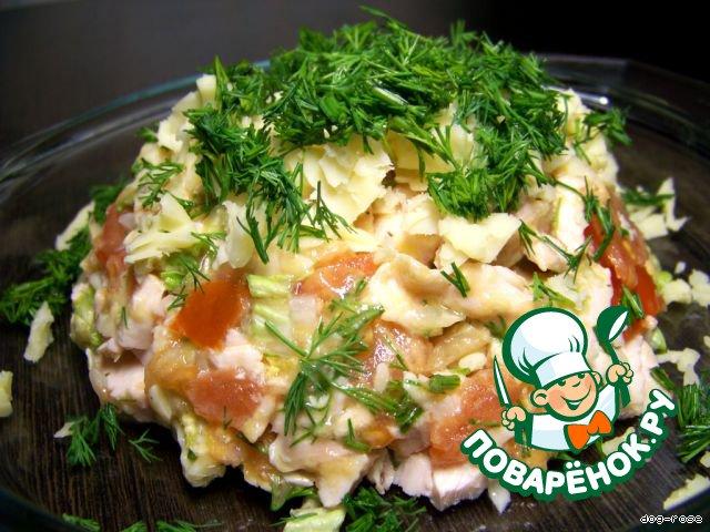 рецепт салата малибу с фото