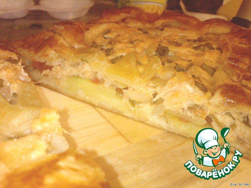 Рыбный пирог с картошкой рецепт пошагово