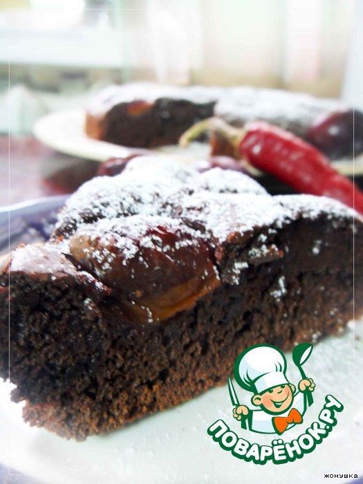 Шоколадный пирог пошаговое фото