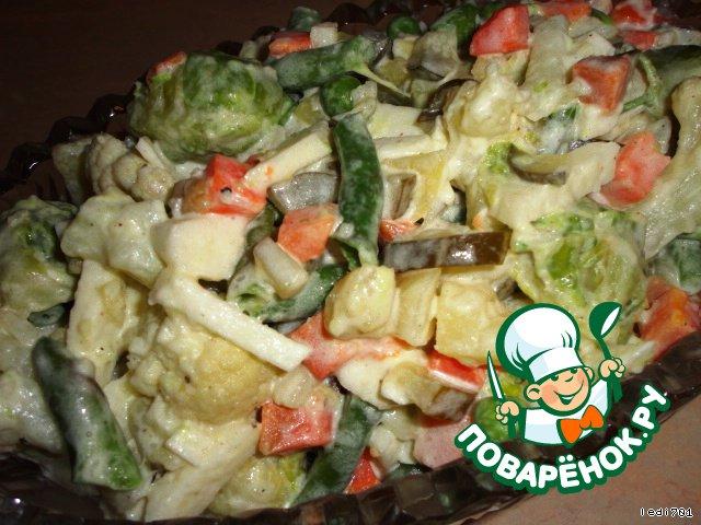 салат из замороженных фруктов прослойка термо белье
