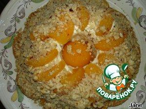 Песочный торт с персиками пошаговый рецепт приготовления с фото готовим #25