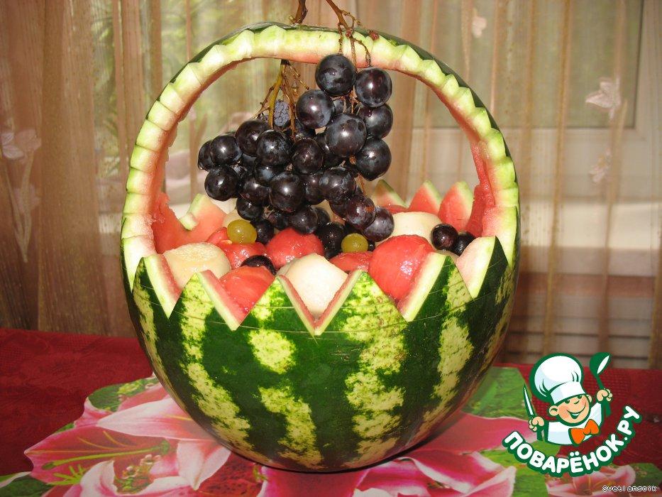 Как сделать из арбуза корзинку с фруктами - Hotelkatyusha.ru