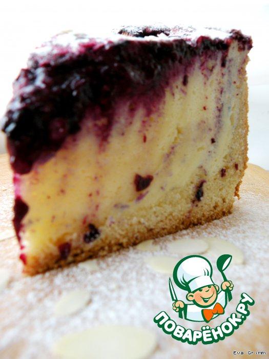 Творожный пирог с вареньем рецепт с фото