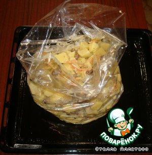 Картофель с грибами в рукаве – кулинарный рецепт
