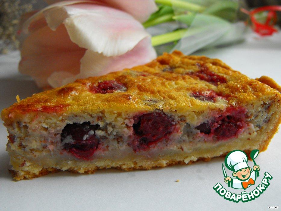 Заливной пирог с вишней рецепты с фото