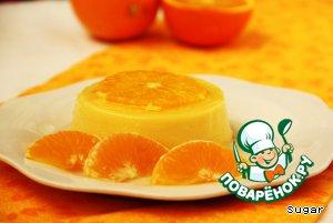 """Апельсиновый крем-десерт """"Перевертыш"""" домашний рецепт с фотографиями как приготовить #9"""