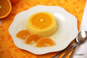 """Апельсиновый крем-десерт """"Перевертыш"""" домашний рецепт с фотографиями как приготовить #8"""