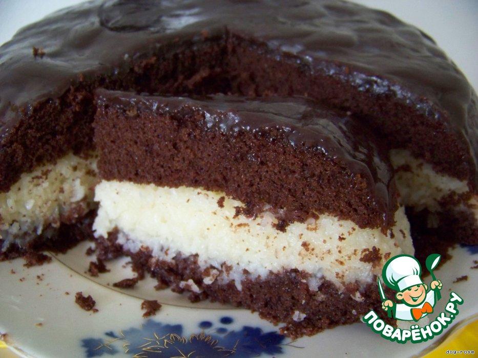 шоколадный торт с кокосом рецепт с фото