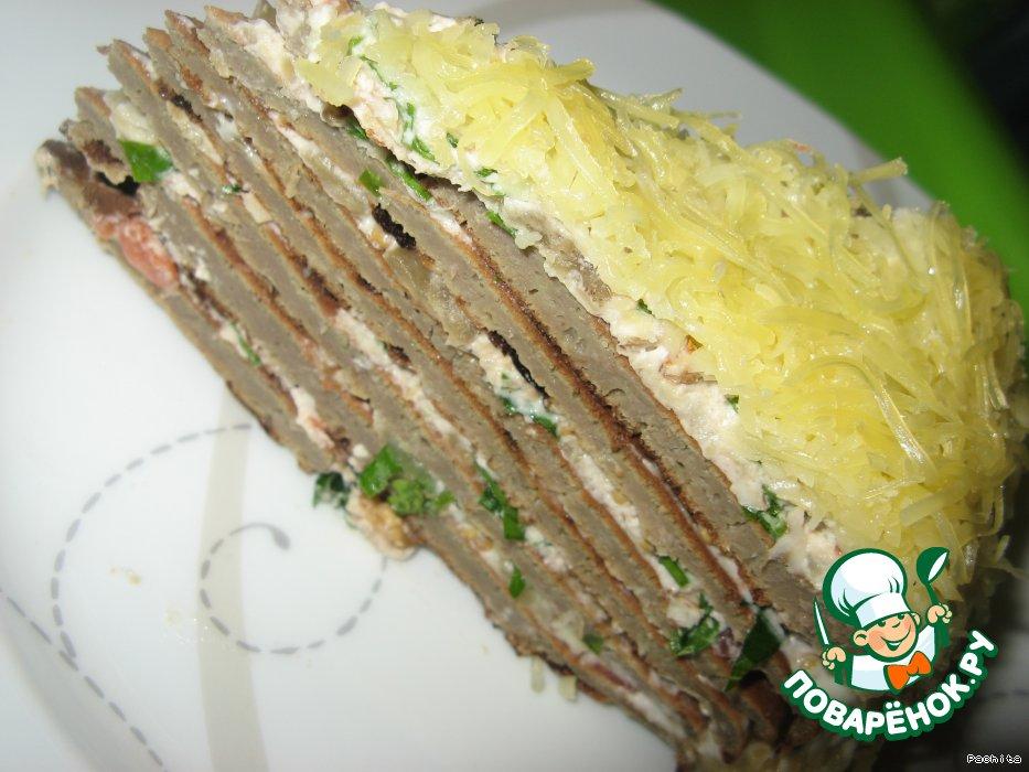 Печёночный торт с сыром рецепт пошагово
