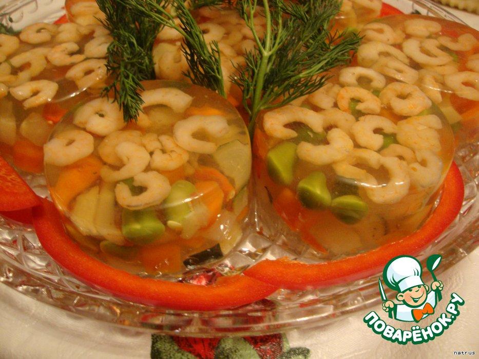 Заливное из овощей пошаговый рецепт