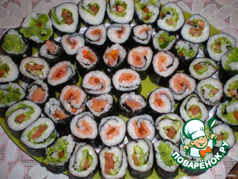 Суши дома рецепт с фото
