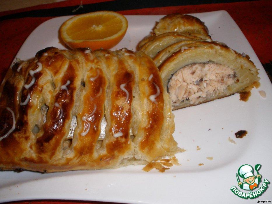 Рецепт слоеного рыбного пирога