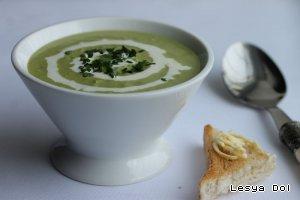 Крем-суп из зеленого горошка - кулинарный рецепт
