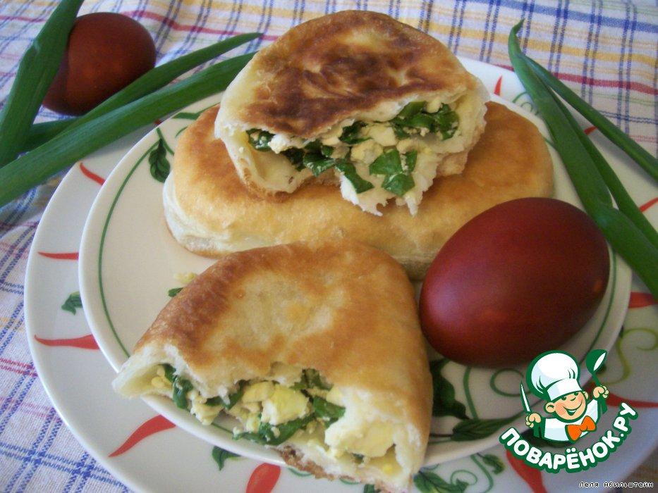 Как испечь пироги с зеленым луком и яйцом