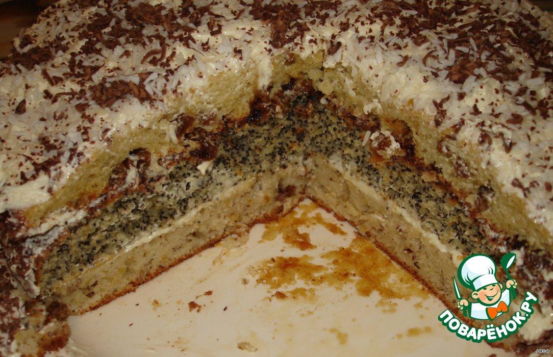 Бисквитный торт с маком рецепт с фото