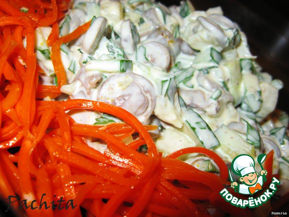 Салат с куриным сердцем фото