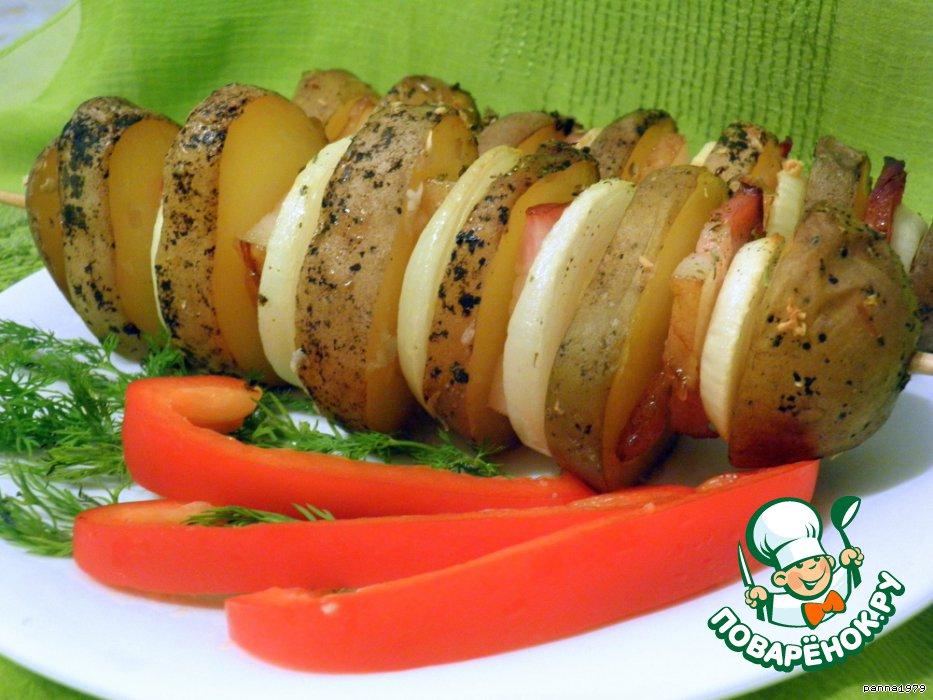 Картошка-гармошка рецепт пошагово