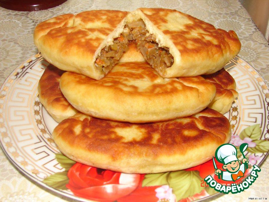 жареные пирожки с капустой пошаговый рецепт с фото