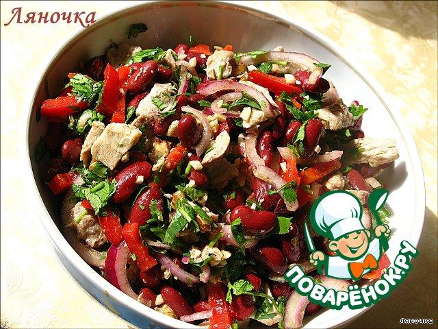 грузинский салат рецепт классический с мясом