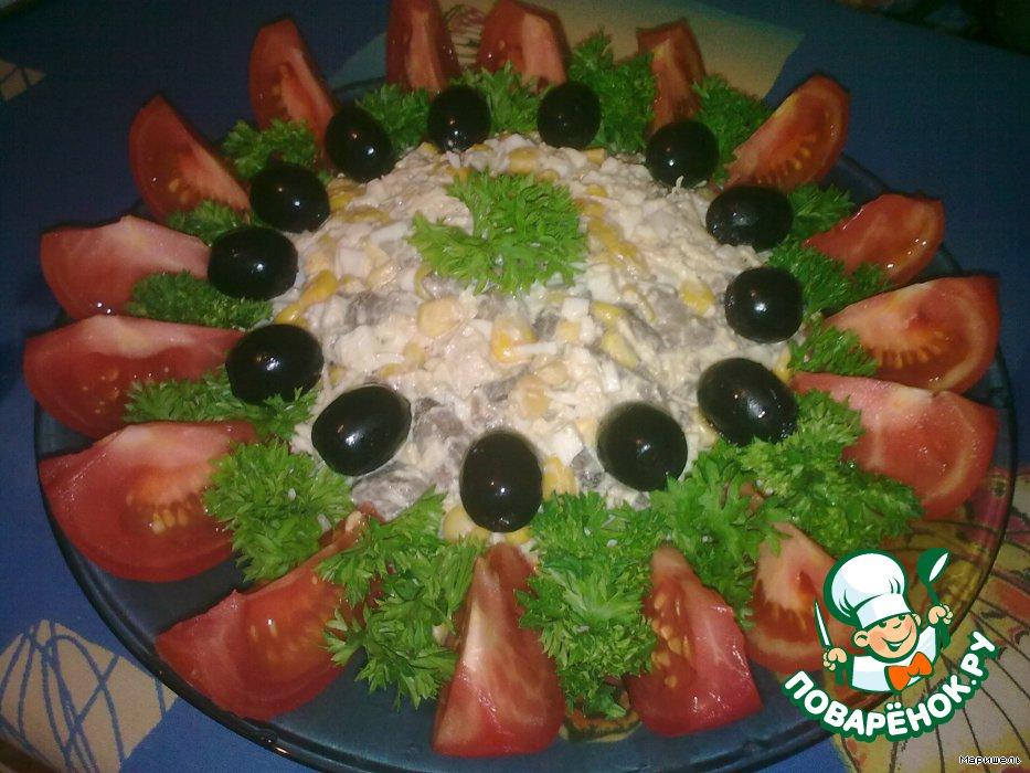 Салат с чипсамиы с фото солнышко