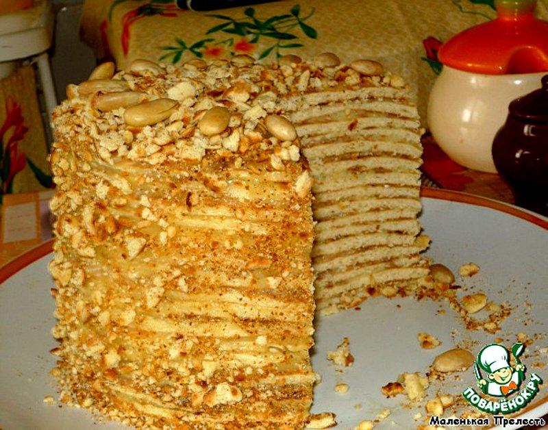 Торт наполеон рецепт со сгущенкой на сковороде