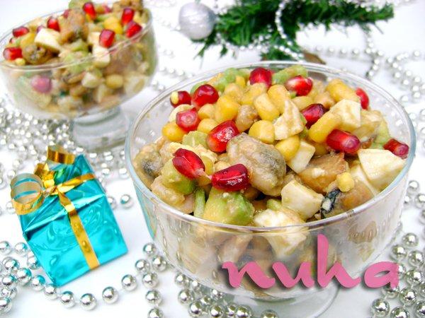 Новогодние порционные салаты в креманках рецепты