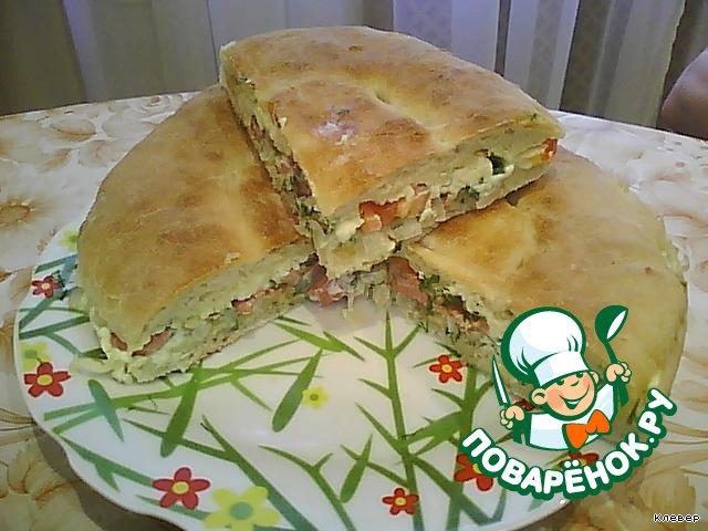 Закрытая пицца из лаваша рецепт с фото