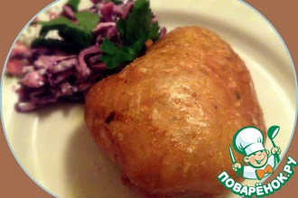 Рецепт: Куриная кожа, фаршированная картофелем