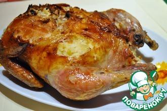 Рецепт: Курица фаршированная рисом в аэрогриле