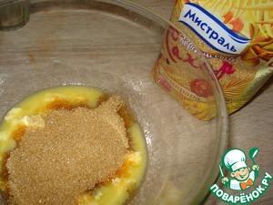 Melt butter, add salt and sugar and grind well.