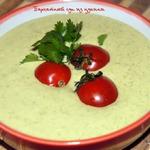 Бархатный суп из цуккини