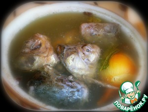 To prepare the broth (I added a whole onion, carrots, Bay leaf, allspice) - broth need only 200 ml in total.