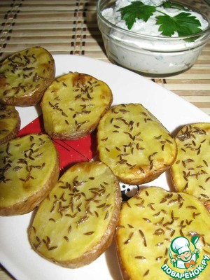 5. Serve the potatoes with the cheese sauce. Bon appetit!