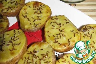Рецепт: Рейнский картофель с тмином и пряным творогом