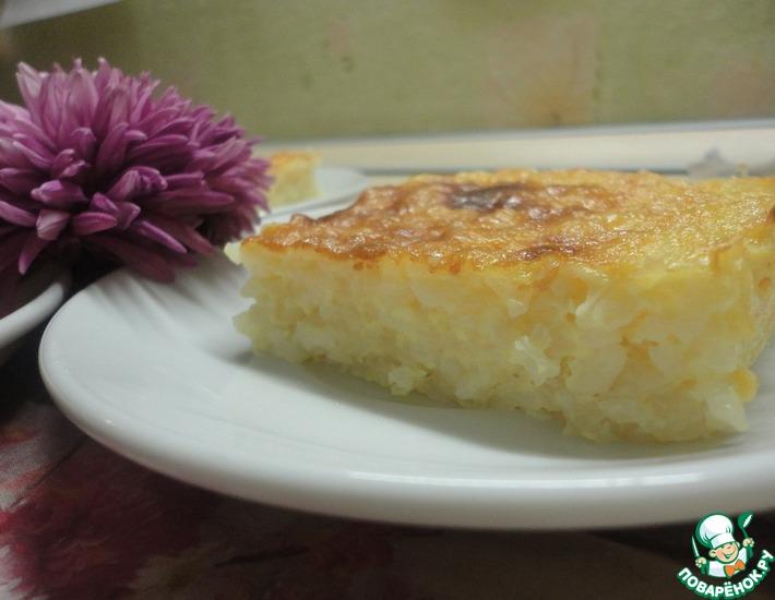 Рецепт: Рисовая запеканка Обжорка