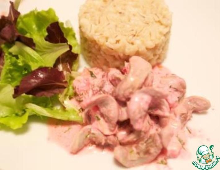 Рецепт: Кроличьи языки, запеченные с сыром камамбер