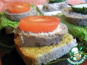 3. Bread, mustard, sausage, tomato.