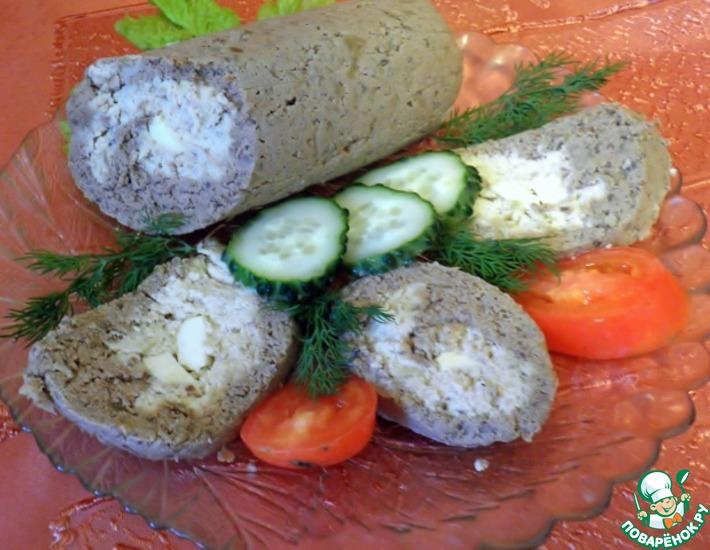 Рецепт: Паштетная печеночно-куриная колбаса
