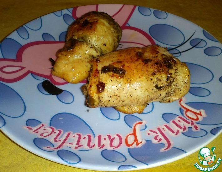 Рецепт: Куриные рулетики с ржаным хлебом