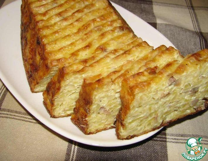 Рецепт: Картофельный хлебец с салом