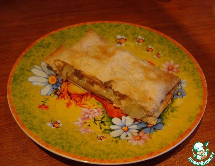 Рецепт: Легкий пирог из сёмги