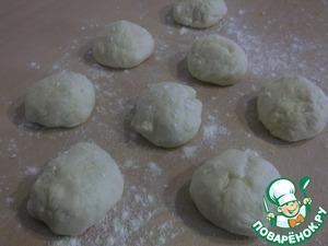 Soft divide the dough into 8 parts.