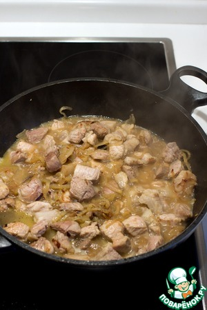 Pour 1 Cup of water or broth and simmer the meat under a lid for another 20 minutes.
