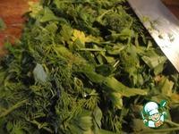 Маринованные баклажаны с зеленью и луком ингредиенты