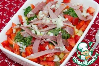 Рецепт: Итальянский этнический салат с нутом