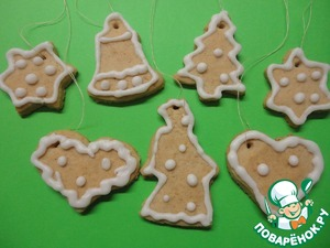 Beat the fondant on - sea. powder and protein. Decorate our cookies. To dry sweet and can be hung on the Christmas tree. These cookies can also decorate with melted milk chocolate. Let your kids be satisfied. Bon appetit!