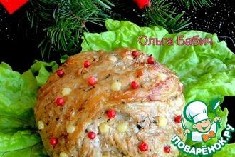 Рецепт: Новогодний мясной шар