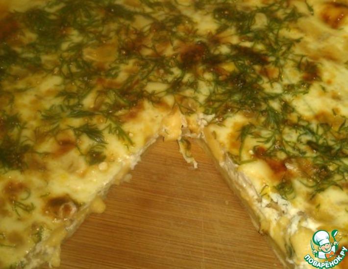 Рецепт: Пирог с луком и сыром
