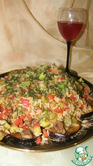 Рецепт Салат с говядиной, цуккини и баклажанами